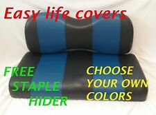 CLUB CAR PREC. GOLF CART CUSTOM SEAT COVERS FRONT& REAR COMBO STAPLE ON #60 T.S.