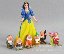 Disney Snow White & 7 Dwarfs Large Birthday Cake Topper Figurines Toy Set USA