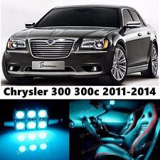 13pcs LED ICE Blue Light Interior Package Kit for Chrysler 300 300c 2011-2016