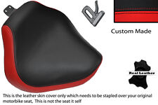 BRIGHT RED & BLACK CUSTOM FITS YAMAHA XVS 1100 DRAGSTAR CUSTOM FRONT SEAT COVER