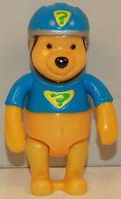 "3.25"" Pooh Bear Bicycle Helmet PVC Plastic Action Figure Disney Winnie The Pooh"