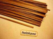 Nussbaum. Holzleisten  Nussbaum. 200mm x 4mm x 1mm  100 Stück.  L/B/H  Neu