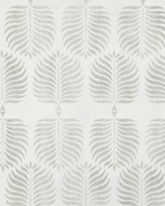 New roll - SERENA & LILY Granada Wallpaper - Grey Gray - Palm botanical