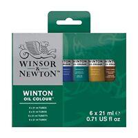Winsor  Newton Winton 21ml Oil Colour Tube Set of 6