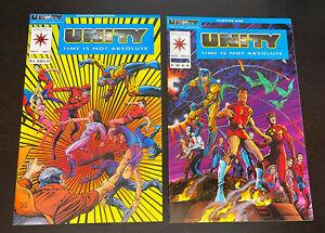 UNITY #0 + #1 (Valiant Comics 1992) -- Set of 2