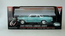 1:18 Highway 61 1963 Pontiac Lemans Sport Coupe - Aqua & Blue
