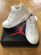 """Nike Air Jordan III 3 Retro """"Pure White"""" in US 12.5 / EUR 47 / UK 11.5"""