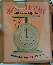 Vintage Household Scale with Button Adjuster Utility 25lb made in Japan WORKS
