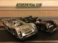 SCALEXTRIC PAIR OF CADILLAC NORTHSTAR 2000 LMP CARS ANALOGUE