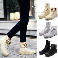 Fashion Mens Boys High Top Ankle Boots Casual Canvas Anti Slip Lace Up Shoes Sz