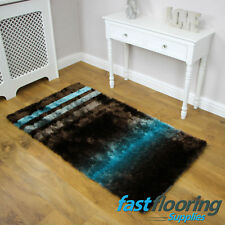 Splendour Deluxe Brown/Blue Rug *0.80 x 1.50* Soft Polyester Lounge *RRP £75*
