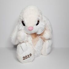 Dan Dee 2019 Cream White Bunny Rabbit Plush Sitting Stuffed Animal