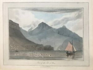 1818 Antique Print; Isle of Rum, Inner Hebrides, Scotland after W. Daniell