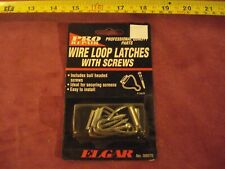 (2572.) Wire Loop Latches (four), with Ball-headed Screws
