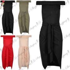 Vestidos de mujer por la rodilla de poliéster