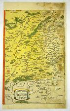 VERMANDOIS PÉRONNE FRANKREICH EUROPA KOL KUPFERSTICH KARTE ORTELIUS 1595 #D937S