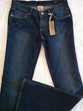 "J Signature Junior's Flare Blue Jeans 26x33 NWT Glittery Pocket 33"" Inseam CUTE!"