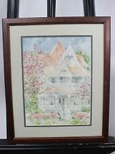 Beth Eidelberg Watercolor Painting Original framed painting VICTORIAN