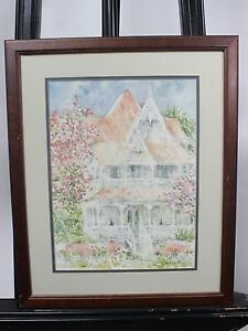 Beth Eidelberg Watercolor Painting Original framed painting VICTORIAN