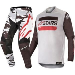 NEW ALPINESTARS 2019 RACER TACTICAL RACE KIT BLACK GREY RED CAMO MX MOTOCROSS