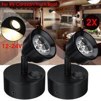 12/24V LED Spot Reading Spot Light Wall Bedside Lamp Adjustable Boat RV Caravan
