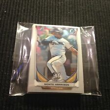 (10)  2014 BOWMAN CHROME *MINI* #56 MONTE HARRISON ROOKIE LOT  BREWERS