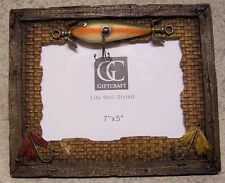 "Picture Frame Fisherman Lures 9 1/4"" x 7 5/8"" for 7"" x 5"" picture or mirror NEW"