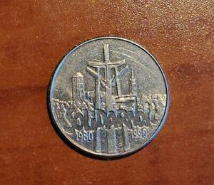 Poland 10000 Zlotych 1990 Solidarity polish commemorative coin