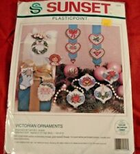 Dimensions Sunset Victorian Christmas Ornaments Cross Stitch Kit Makes 12 NEW