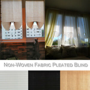Window Venetian Non Woven Fabric Rolling Blinds Easy to Fit In White Beige Black