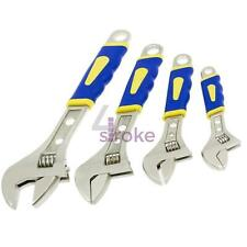 """4 Piece Heavy Duty Soft Grip Adjustable Spanner Wrench Spanners 6"""" 8"""" 10"""" 12"""""""