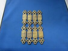 (8) VTG Furniture Hardware Back Plate Escutcheon Brass Finish Hardware 3.75