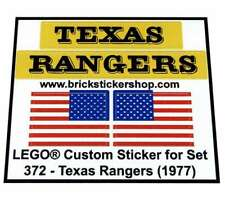 Replica Pre-Cut Sticker for Legoland Cowboys Set 372 - Texas Rangers