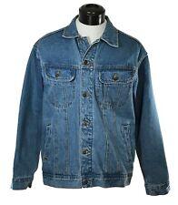 WRANGLER Vintage Classic Blue Jean Jacket Heavy Denim sz XL 100% Cotton Western