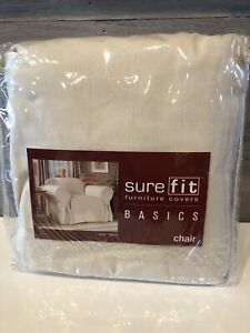 Sure Fit Duck Natural Chair Slipcover