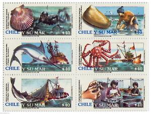 Chile 1990 #1433-38 Chile y su Mar MNH