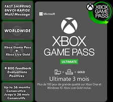 Xbox Game Pass Ultimate 3 mois 3 months 3 mesi 3 meses