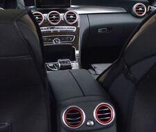 7x Lüftungsringe für Mercedes C Klasse W205  C180L C200L C260L rot Ringe Lüftung