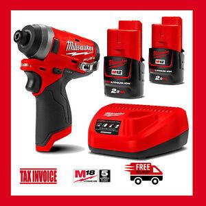 "Milwaukee M12FID-0 12V Li-Ion Cordless Fuel 1/4"" Hex Impact Driver Kit - M12"