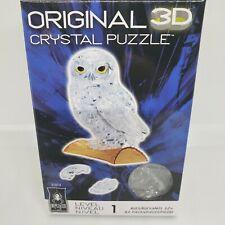 BePuzzled Original 3D Crystal Puzzle Owl. Level 1 42 Pcs. NEW!