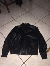 Rare Lifted Research Group 100% Leather Jacket Womens Sz Medium Used Black