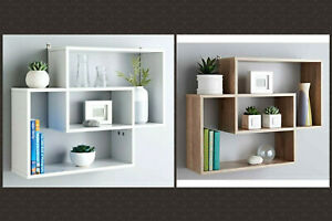 Lokken Oak Space Saving Multi Compartment Floating Wall Shelves Display Shelf