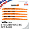 "5pc Reciprocating Saw Blades 12"" Set Electric Sawzall Hackzall Wood pruning"