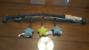 Graco Pack N Play Replacement Clip On Mobile Grey with blue & green stars
