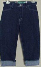 LEVI'S Silver Tab CROP DENIM JEANS high rise fold Cuff  Vintage 27W ~ Women sz 6