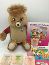 Vintage 1985 TEDDY RUXPIN Cartridge Version NON-Working w Cartridges & Books