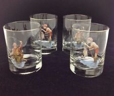 "RICHARD BISHOP LTD. ""FLY FISHING"" GLASSES BARWARE - GRANDPA & GRANDSON"