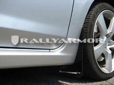 Rally Armor 04-09 Mazdaspeed 3 & Mazda 3 UR Black Mud Flaps Kit w/ WHITE Logo