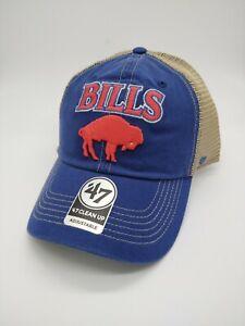 Buffalo Bills blue '47 Brand Adjustable clean up mesh snapback Hat new legacy