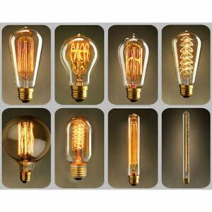 Vintage Filament LED Edison Bulb Amber Lamp E27 Decorative Industrial Light A+
